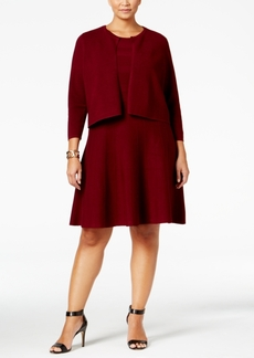 Charter Club Plus Size Fit & Flare Sweater Dress and Bolero Set, Only at Macy's