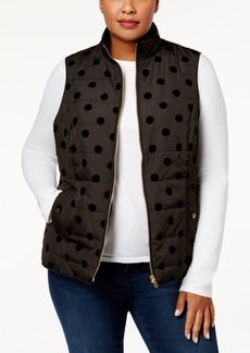 Charter Club Plus Size Flocked Vest, Created for Macy's