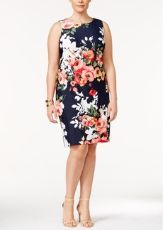 Charter Club Plus Size Floral-Print Shift Dress, Only at Macy's