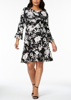 Charter Club Plus Size Flounced-Hem A-Line Dress, Created for Macy's