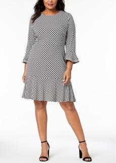 Charter Club Plus Size Flounced-Hem A-Line Dress, Created for Macy's