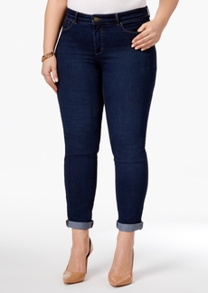 Charter Club Plus Size Greenwich Wash Boyfriend Jeans, Only at Macy's