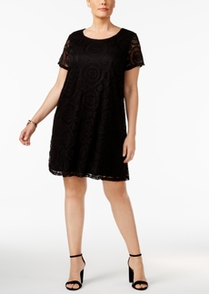Charter Club Plus Size Lace Shift Dress, Only at Macy's