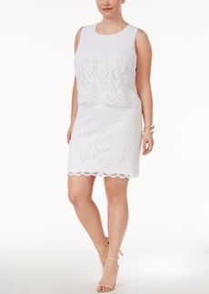 Charter Club Plus Size Layered Fit & Flare Dress, Only at Macy's