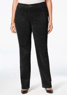 Charter Club Plus Size Lexington Tummy-Control Corduroy Pants, Only at Macy's