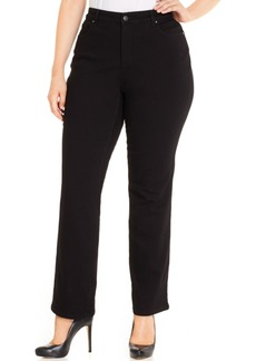 Charter Club Plus Size Lexington Tummy-Control Straight-Leg Jeans, Only at Macy's