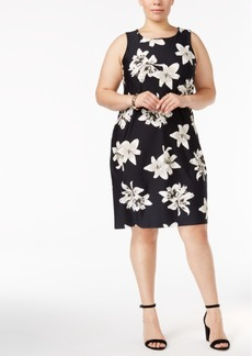 Charter Club Plus Size Lily-Print Sheath Dress, Only at Macy's