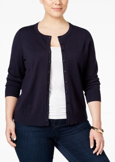 Charter Club Plus Size Long-Sleeve Cardigan, Created for Macy's