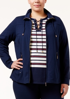 Charter Club Plus Size Lounge Jacket, Only at Macy's