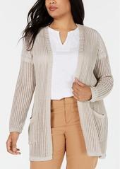 Charter Club Plus Size Metallic Cardigan, Created for Macy's