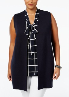 Charter Club Plus Size Milano Vest, Only at Macy's