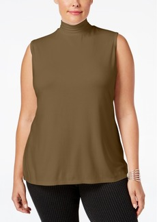 Charter Club Plus Size Mock-Neck Top, Only at Macy's