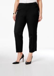 Charter Club Plus Size Newport Tummy-Control Cropped Pants, Only at Macy's