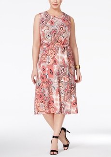 Charter Club Plus Size Paisley-Print Fit & Flare Dress, Only at Macy's