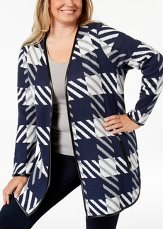 Charter Club Plus Size Plaid Cardigan Sweater, Created for Macy's