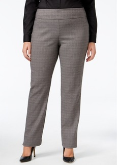 Charter Club Plus Size Cambridge Plaid Slim-Leg Pants, Only at Macy's