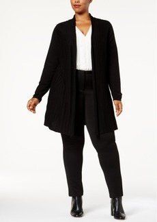 Charter Club Plus Size Pleated Duster Cardigan, Created for Macy's