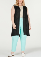Charter Club Plus Size Pointelle Sweater Vest, Created for Macy's