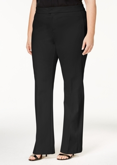 Charter Club Plus Size Ponte-Knit Tab-Waist Pants, Created for Macy's