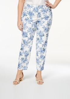 Charter Club Plus Size Printed Ankle-Length Jeans, Created for Macy's
