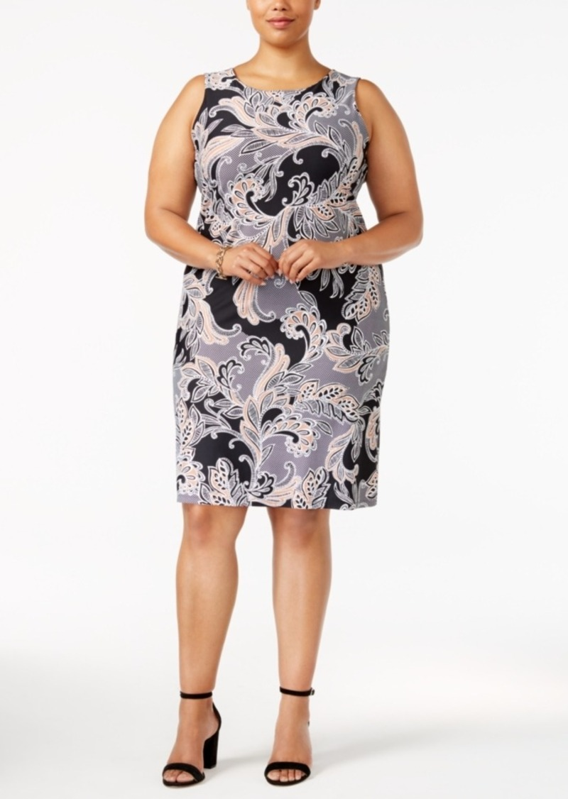 Charter Club Charter Club Plus Size Printed Shift Dress, Created for ...