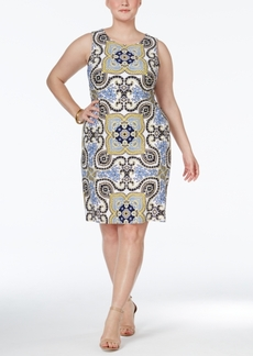 Charter Club Plus Size Printed Shift Dress, Only at Macy's