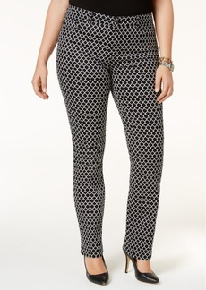 Charter Club Plus Size Printed Skinny Jeans, Only at Macy's