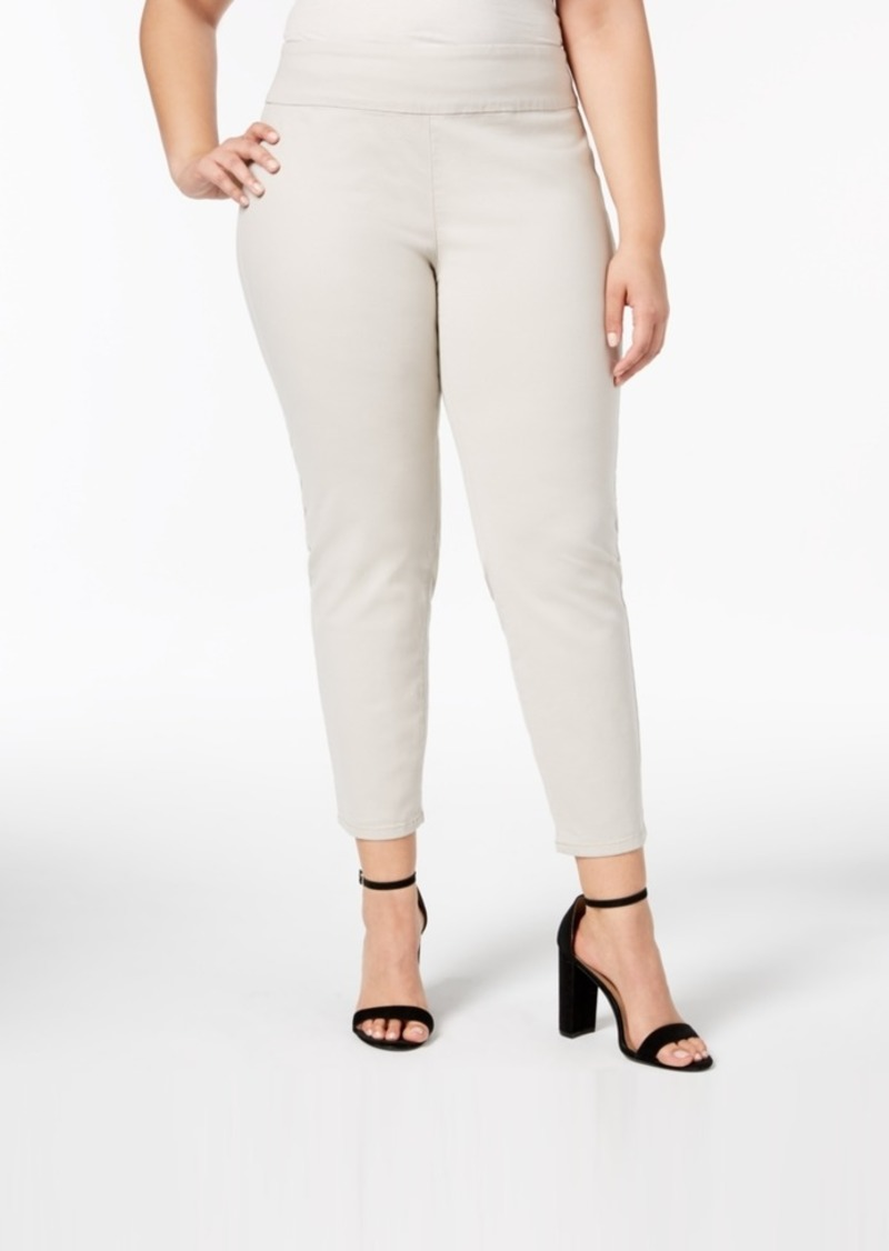 e6febc2147812 Charter Club Charter Club Plus Size Pull-On Skinny Ankle Pants ...
