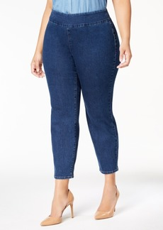 Charter Club Plus Size Pull-On Ankle Skinny Jeans, Created for Macy's