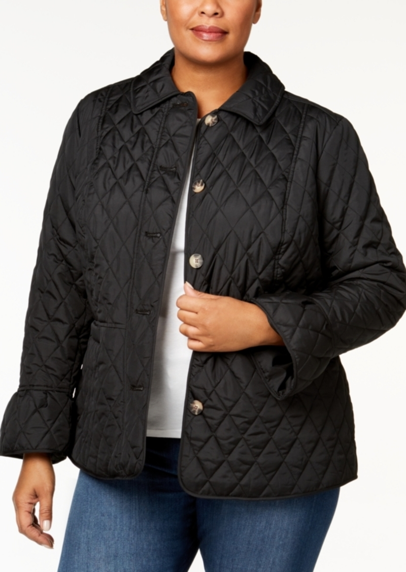 f453209b031 Charter Club Charter Club Plus Size Quilted Bell-Sleeve Jacket ...