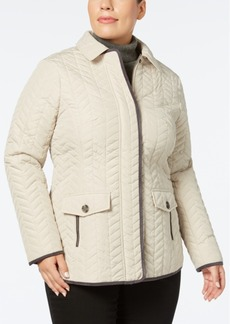 Charter Club Plus Size Quilted Coat, Created for Macy's
