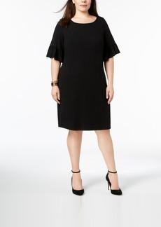 Charter Club Plus Size Ruffle-Sleeve Shift Dress, Created for Macy's