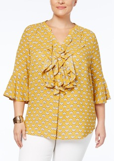 Charter Club Plus Size Ruffled Blouse, Created for Macy's