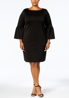 Charter Club Plus Size Ruffled-Sleeve Dress, Created for Macy's