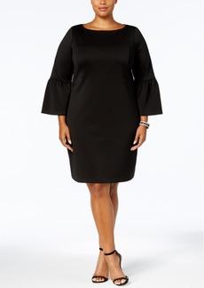 Charter Club Plus Size Ruffled-Sleeve Dress, Created for Macy's