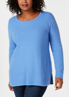 Charter Club Plus Size Seed-Stitched Tunic Sweater, Created for Macy's