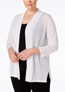 Charter Club Plus Size Sheer Cardigan, Only at Macy's