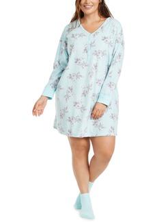 Charter Club Plus Size Sleepshirt Nightgown & Socks Set, Created for Macy's