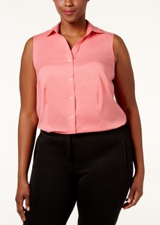 Charter Club Plus Size Sleeveless Shirt, Only at Macy's
