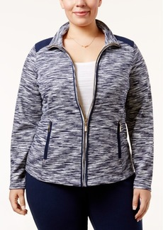 Charter Club Plus Size Space-Dyed Jacket, Only at Macy's