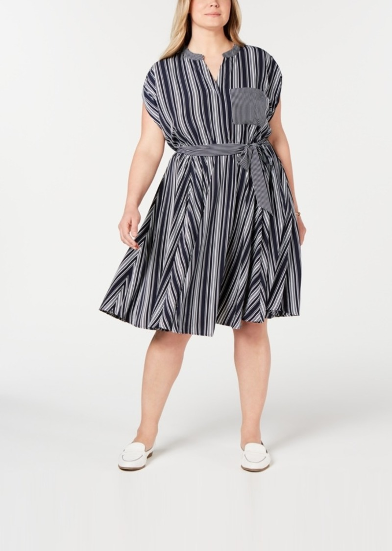 Plus Size Striped Dress, Created for Macy\'s