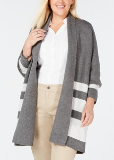Charter Club Plus Size Reversible Long Cardigan, Created for Macy's