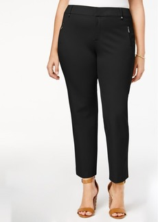 Charter Club Plus Size Tummy-Control Ankle Pants, Created for Macy's