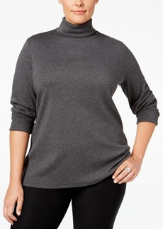 Charter Club Plus Size Turtleneck Top, Only at Macy's