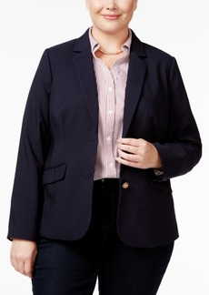 Charter Club Plus Size Two-Button Blazer, Only at Macy's