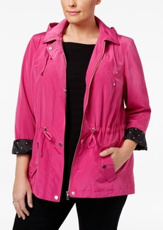 Charter Club Plus Size Utility Rain Jacket, Only at Macy's