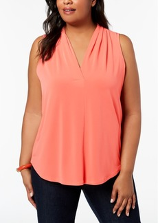 Charter Club Plus Size V-Neck Blouse, Created for Macy's