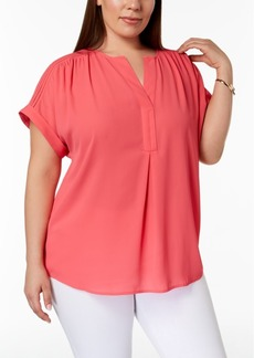 Charter Club Plus Size V-Neck Top, Created for Macy's