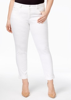 Charter Club Plus Size White Wash Boyfriend Jeans, Only at Macy's