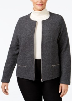 Charter Club Plus Size Wool Sweater Coat, Only at Macy's
